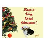 Very Corgi Christmas Gimli Yellow Postcard