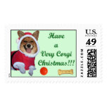 Very Corgi Christmas Mercy Green Large Stamp