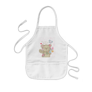 Very Cute Bear Baby Kids' Apron