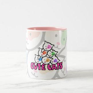 Very cute cat Two-Tone coffee mug