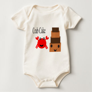 Very cute Crab with Cake Baby Bodysuit