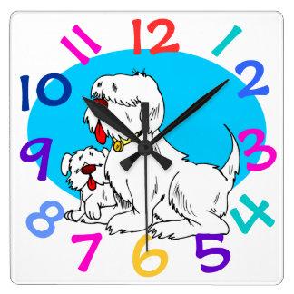 Very Cute Dog Design Children's Room Wall Clock
