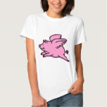 Very Cute Flying Pink Pig T-shirt