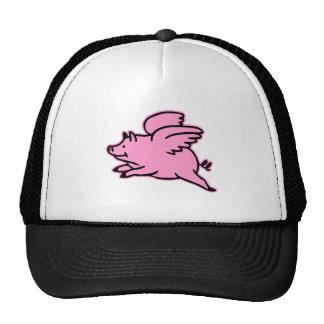 Very Cute Flying Pink Pig Trucker Hat