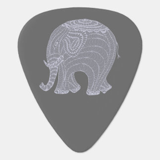 Very cute gray doodle elephant guitar pick
