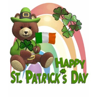 Very Cute Irish Bear with Flag Design #2 shirt