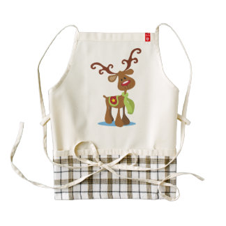 Very Cute Reindeer Christmas | HEART Apron