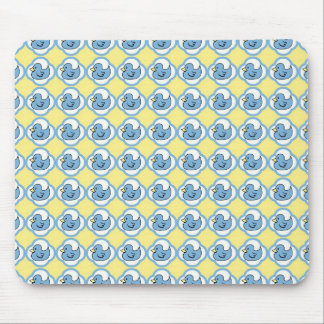 Very Cute Rubber Ducky Retro Pattern Mouse Pad