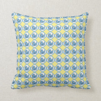 Very Cute Rubber Ducky Retro Pattern Pillow