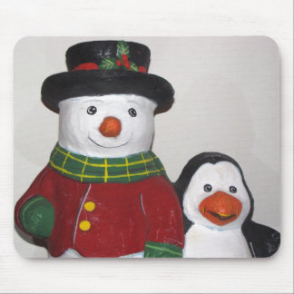 Very Cute Snowman and Friend Mouse Pad
