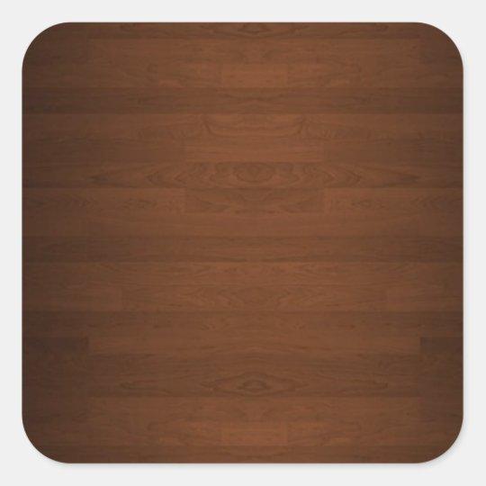 Very Dark Hard Wood Floor Grain Square Sticker