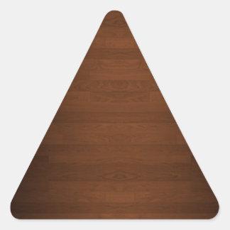 Very Dark Hard Wood Floor Grain Triangle Sticker