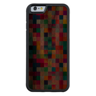 Very Dark Multi Colored Design Walnut Wood Carved Walnut iPhone 6 Bumper Case