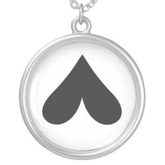 Very Dark Sarcastic Heart Custom Necklace