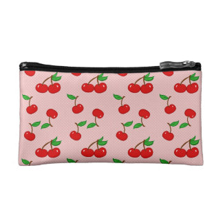 Very Dotty Cherry in Pink Cosmetic Bag