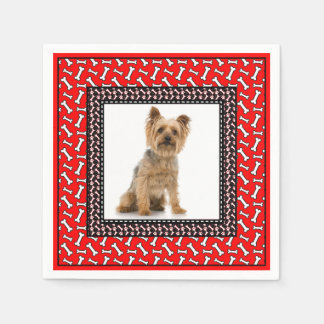 Very Fancy Dog's Birthday Party Add Pet's Photo Napkin