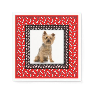 antiqueimages Very Fancy Dog's Birthday Party Add Pet's Photo Napkin