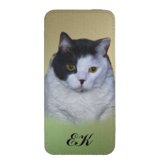 Very Fat Cat, Customizable Monogram iPhone 5 Pouch