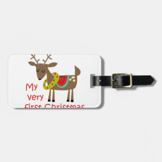 Very First Christmas Luggage Tag