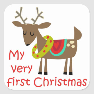 Very First Christmas Square Sticker