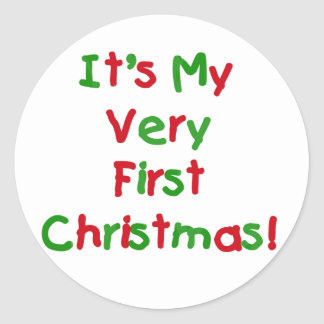 Very First Christmas Tshirts and Gifts Classic Round Sticker