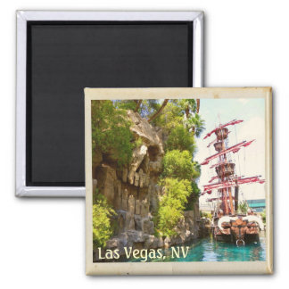 Very Funky Las Vegas Magnet! 2 Inch Square Magnet