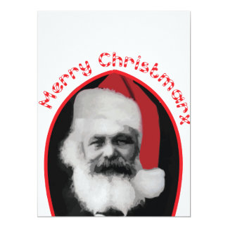 "Very funny Christmas card ""Merry Christmarx"",gift!"