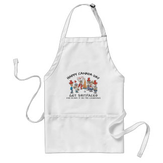 Very Funny Happy Canada Day Adult Apron