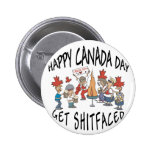 Very Funny Happy Canada Day Button
