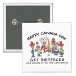 Very Funny Happy Canada Day Pin