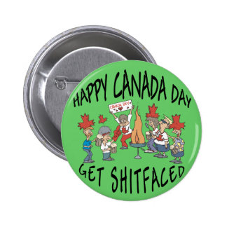 Very Funny Happy Canada Day Pinback Button