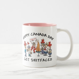 Very Funny Happy Candad Day Two-Tone Coffee Mug