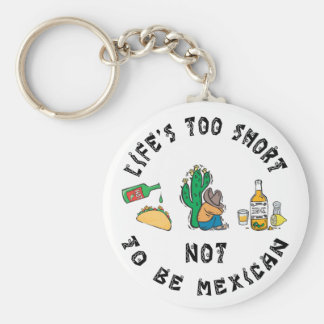 Very Funny Mexican Basic Round Button Keychain