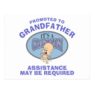 Very Funny New Grandson New Grandfather Postcard