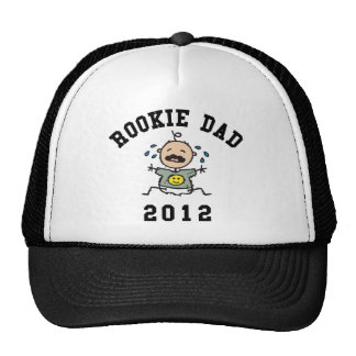 Very Funny New Rookie Dad 2012 T-Shirts Trucker Hats