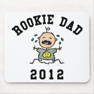 Very Funny New Rookie Dad 2012 T-Shirts Mouse Pad
