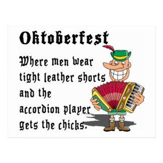 Very Funny Oktoberfest Postcard