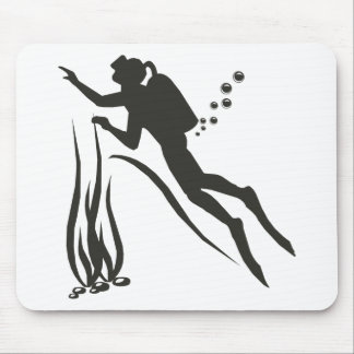 Very Funny SCUBA Diver Mouse Pad