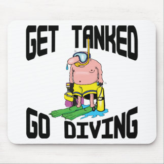 Very Funny SCUBA Diving Mouse Pad