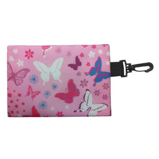 Very Girly nice butterflies Clip On Accessory Bag