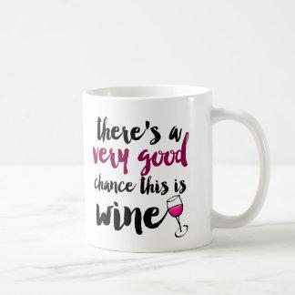 Very Good Chance This is Wine Coffee Mug