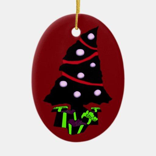 Very Gothy Christmas Ceramic Ornament