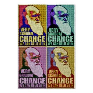 Very Gradual Change (Darwin/Obama) Poster