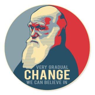 Very Gradual Change We Can Believe In sticker