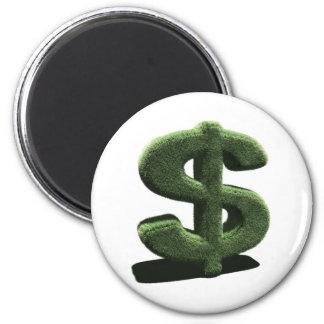 Very grassy Dollar symbol Magnet