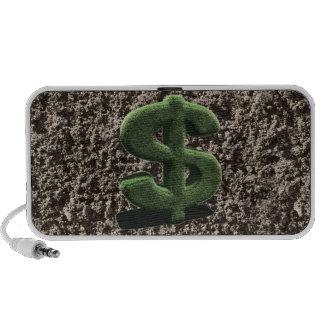 very grassy Dollar symbol Laptop Speakers