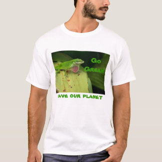 Very Green Lizard, Go Green!, save our planet T-Shirt