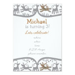 """very happy dogs with frame 5"""" x 7"""" invitation card"""