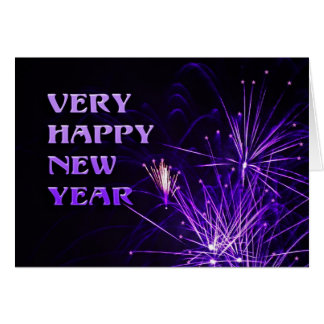 Very happy new year card