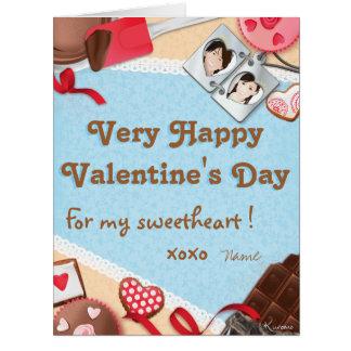 ¡Very Happy Valentine' s Day for my Sweetheart! Tarjeta De Felicitación Grande